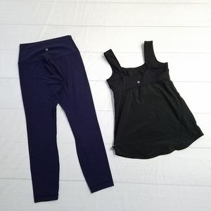 Lululemon Wonderunder Leggings & Tank Top 4/6